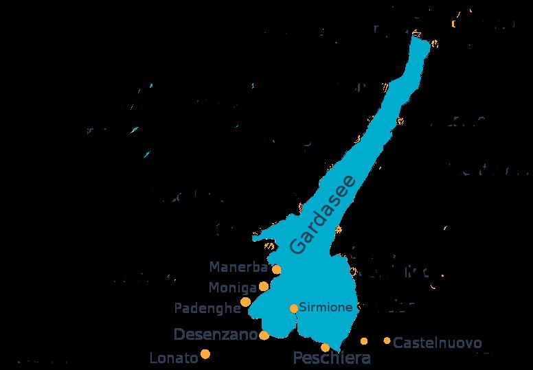 Orte Südufer
